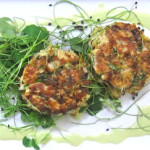 Spicy Crab Cakes w Cucumber Vinaigrette