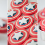 Captain America Cookies for Independence Day