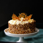 Candy Bar Cake w Brown Butter Caramel Icing