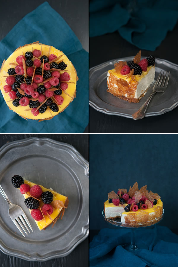 Lemon Cheesecake With Fresh Berries Recipe — Dishmaps